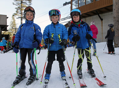 Ski Team - members of the sugar bowl ski team headed out for a day of training