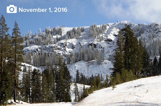 New Snowfall at Sugar Bowl Resort