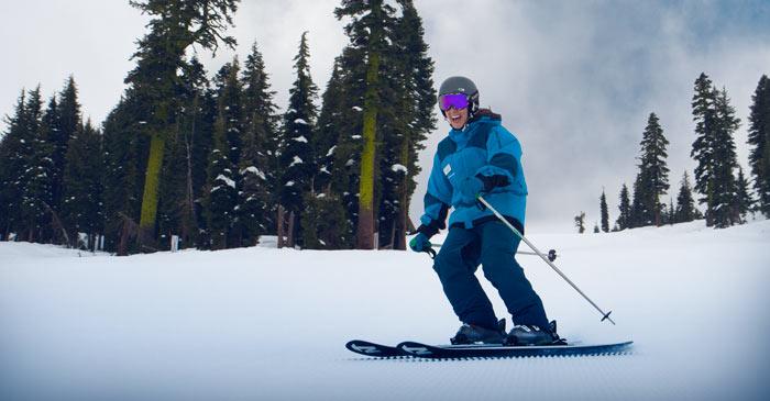 Sugar Bowl Ski instructor skiing down Mount Disney