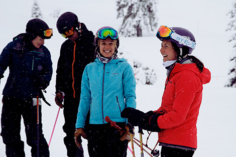 Sugar Bowl Season Passholders are all smiles on a powder day.