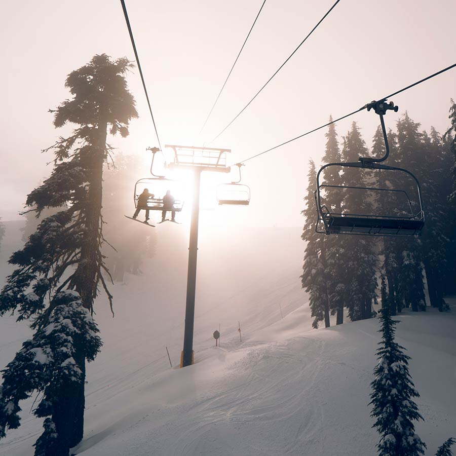 Ski Lift at Sugar Bowl Resort
