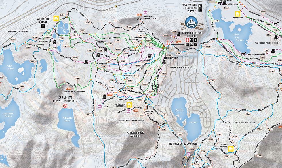 Royal Gorge Cross Country Trail Map