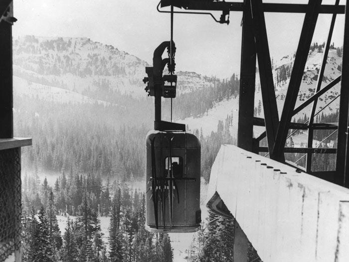 Historic Gondola traveling to Sugar Bowl