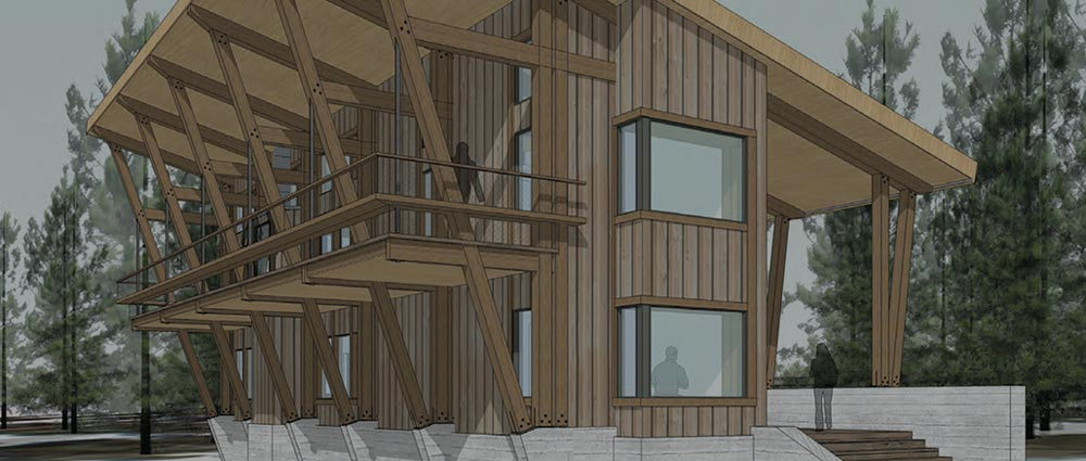 Rendering of the Sugar Bowl Chalet