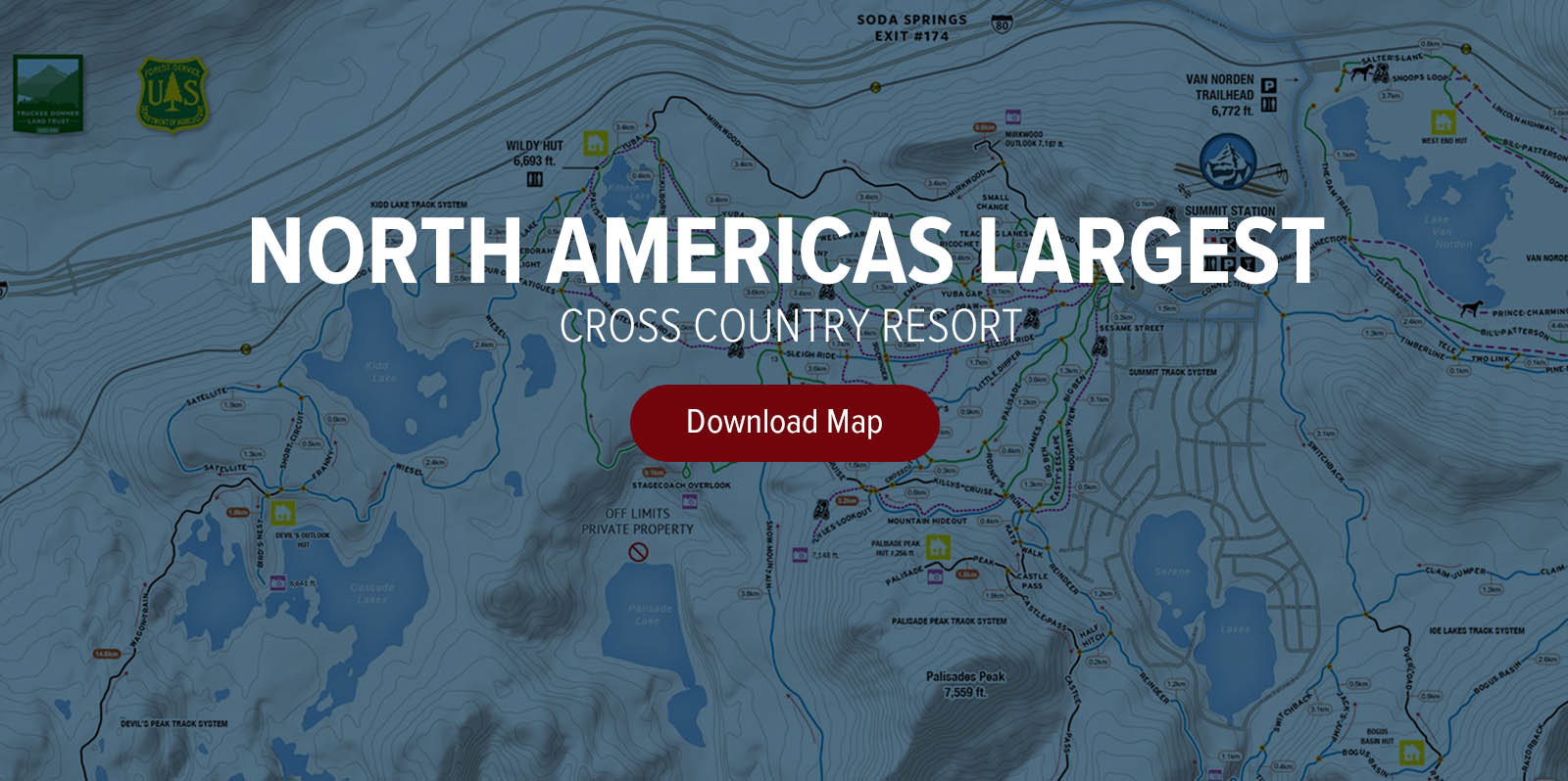 Interactive map royal gorge cross country resort general info sciox Image collections