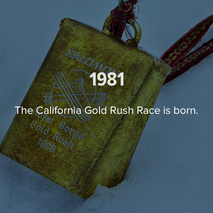 1981 The California Gold Rush race is born.