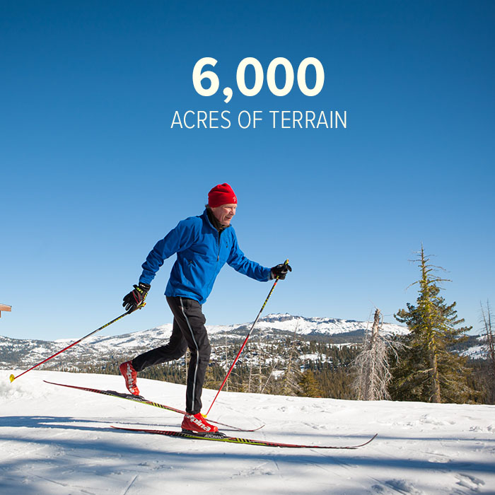 6000 acres of pristine acres of untouched wilderness at Royal Gorge Cross Country ski resort.