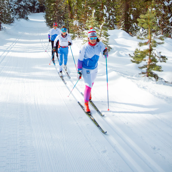 Classic cross country nordic skiing at Royal Gorge.