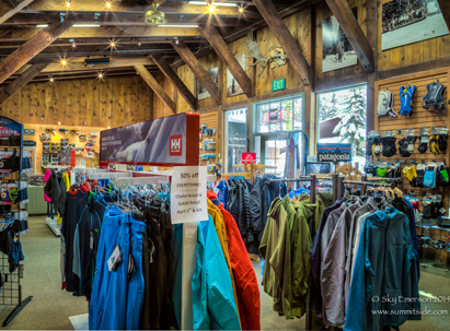 Chalet Retail - merchandise on display at the chalet retail store