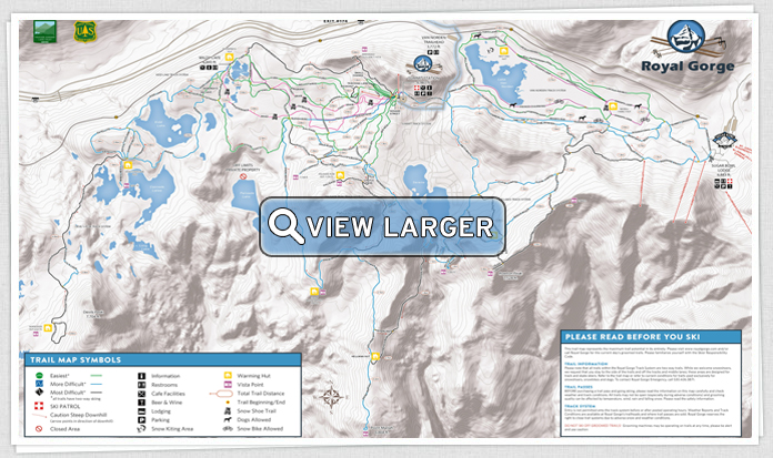 Royal Gorge Trail Map