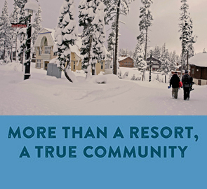 More than a resort, a true community - A snowy Sugar Bowl VIllage