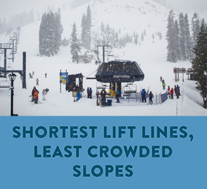 Shortest Lift Lines, Least Crowded Slopes - Disney lift with no lines