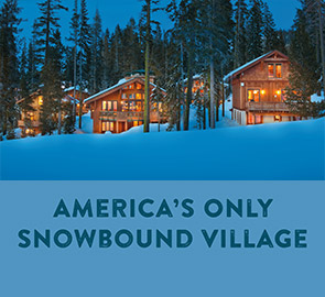 America only Snow Bound Village - a Snowy night in the sugar bowl village