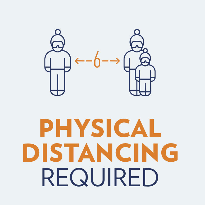 Physical Distancing Required