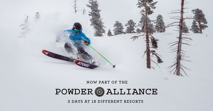 Now a part of the powder alliance. Get 3 days at 18 different resorts.