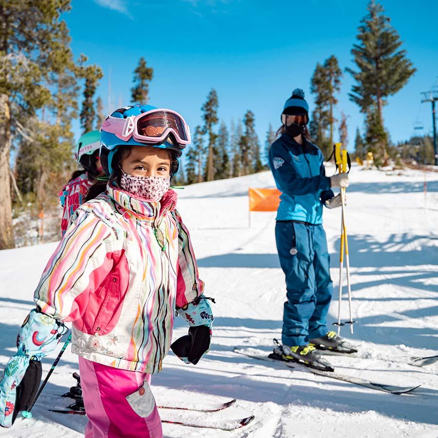 Best beginner ski school lessons for children.