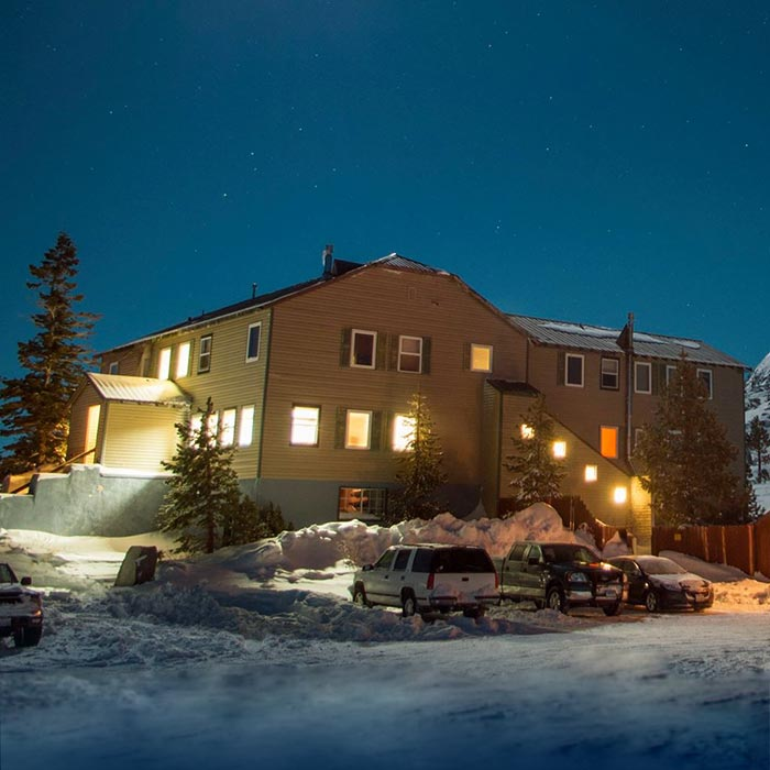 Employee housing at Sugar Bowl Ski Resort.