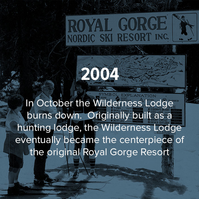 2004 The Wilderness Lodge burns down.