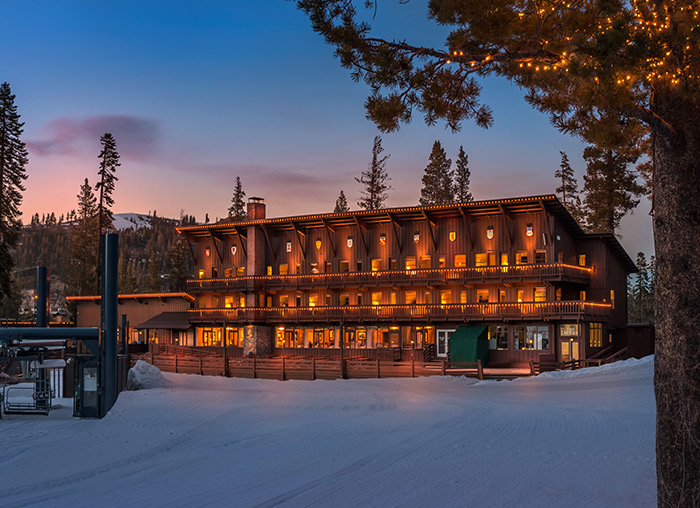 Slopeside hotel rooms atop Donner Summit at Sugar Bowl Ski Resort