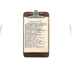 Clipboard with mountain information