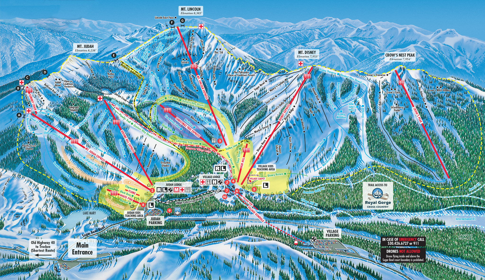 Skiing In California Map.Look No Further Sugar Bowl Resort Snow Ski And Snowboard Donner
